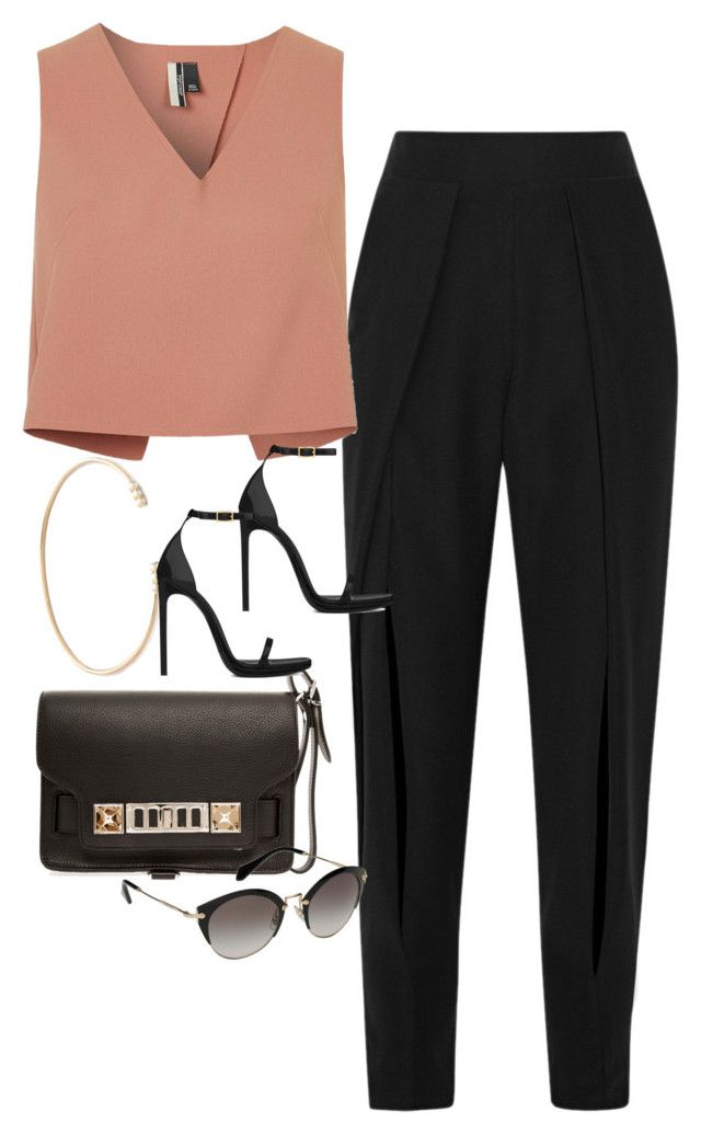 """""""Untitled #3886"""" by olivia-mr ❤ liked on Polyvore featuring Jonathan Simkhai, Topshop, Proenza Schouler, Yves Saint Laurent, Miu Miu and ZoÃ« Chicco"""