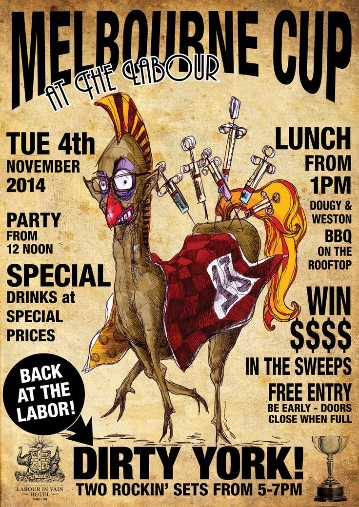 Labor in Vain 2014 Melbourne Cup Poster