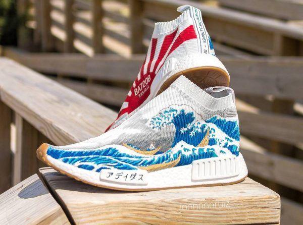 Chaussure Adidas NMD CS1 City Sock Hokusai La grande vague (5)