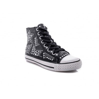 ASH - Sneakers in soft leather with studs detail star black - Elsa-boutique.it <3