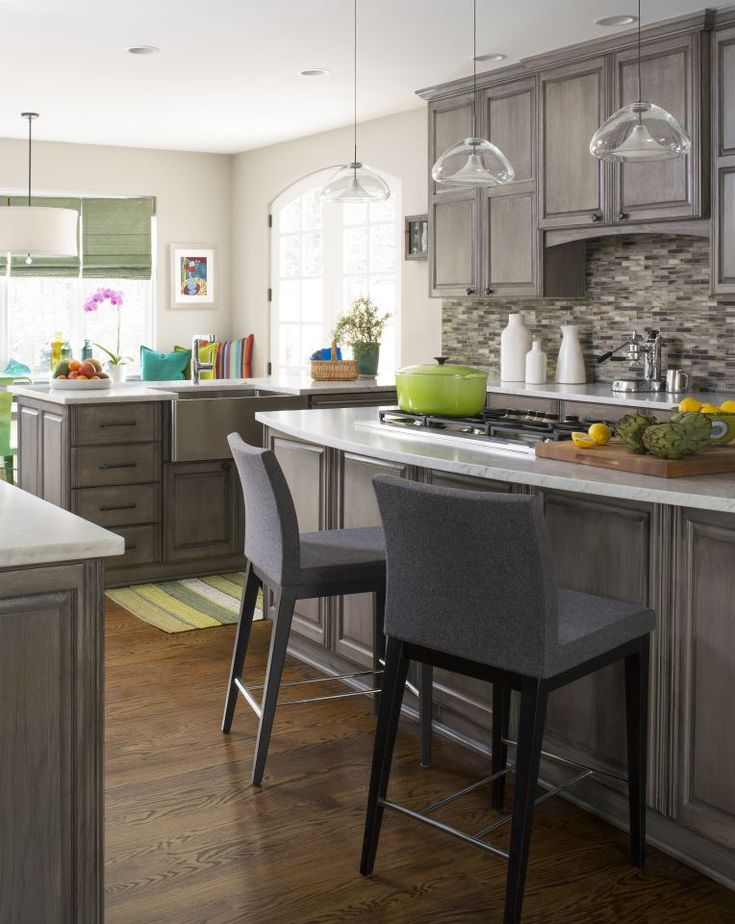 Love The Color Of Cabinets Pattern 1 X Vanadium Finish Natural Used In A Kitchen Backsplash