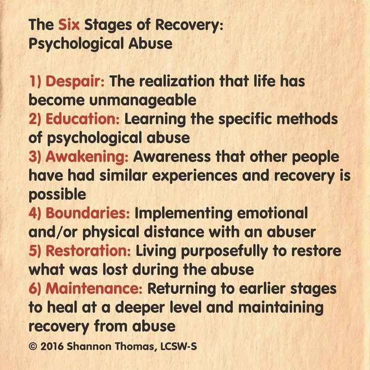Six Stages of Recovery: Narcissistic Abuse: Shannon Thomas on Instagram…