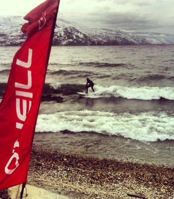 COOL - Antler's Beach surfing in Peachland, across from the house I grew up in :)