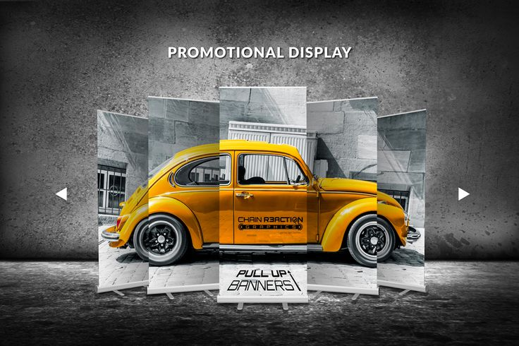 Chain Reaction Graphics on Behance pull up banner design creative black and yell...