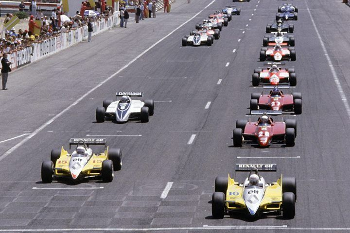 f1 French grand prix - Le Castellet 1982 starting grid ...
