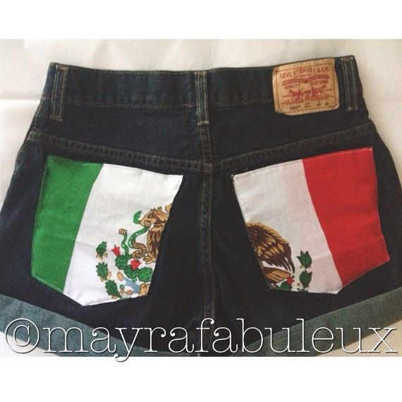 Mexican Flag High Waisted Shorts for mexican independence day.