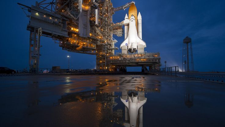 The space shuttle Atlantis is seen shortly after the rotating service structure (RSS) was rolled back at launch pad 39a at the NASA Kennedy Space Center in Cape Canaveral, Fla. Description from ydtalk.com. I searched for this on bing.com/images