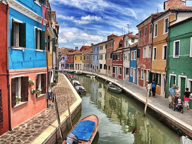Burano island, Venetian Lagoon, Italy. It is famous for its lace, I definitely will go there someday!