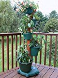 My Garden Post 5 Planter Vertical Gardening System with Drip Irrigation System Finish Hunter Green