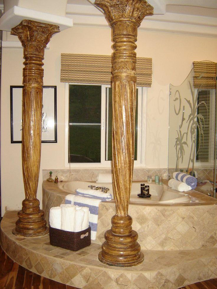 Classic bathroom in equestrian estate  http://costaricamilliondollarhomes.com/Casa-Hacienda-Paso-Fino/index.html