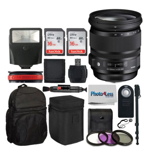 Sigma 24-105mm f/4 DG OS HSM Art Lens for Canon EF Camera  Super Accessory Kit