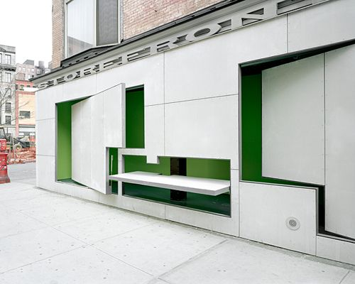 Steven Holl project. I've always wanted to visit...Storefront for Art and Architecture | General Info: About Storefront