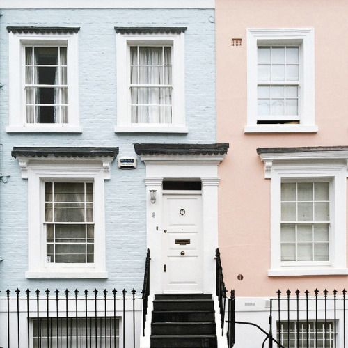 Pastel townhouses