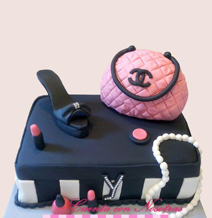 Torta fashion, Torta zapato, Torta maquillaje, Torta adolescente, Cuenta con Nosotras