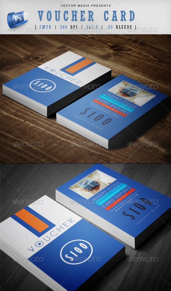 Voucher Card #brand #business #card • Available here → http://graphicriver.net/item/voucher-card/3809045?s_rank=209&ref=pxcr
