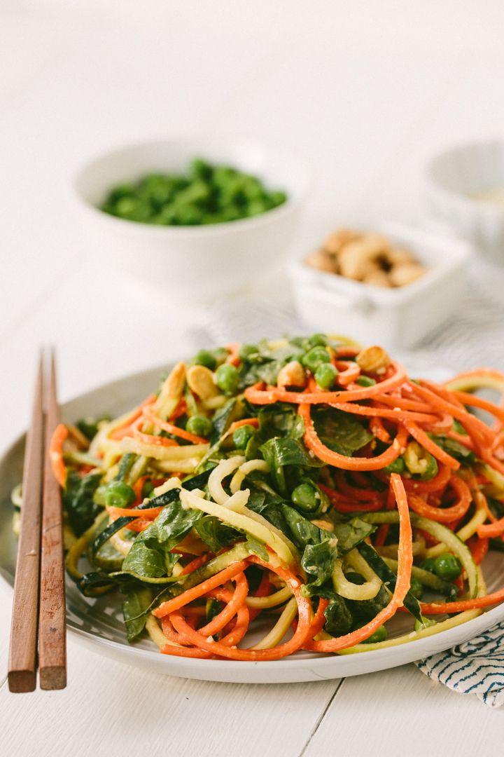 Cold Spiralized Sesame Noodle Salad