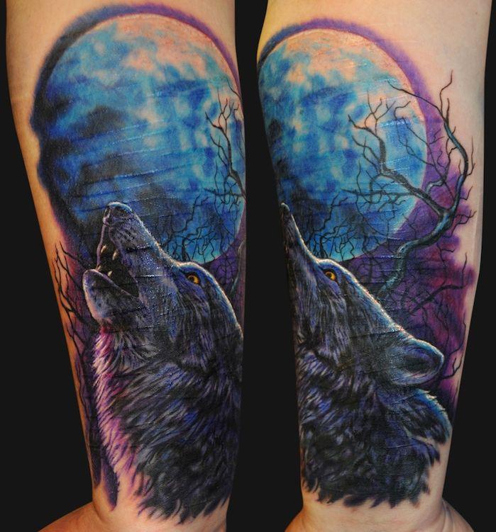 les 25 meilleures id es de la cat gorie tatouage loup hurlant sur pinterest peinture de loup. Black Bedroom Furniture Sets. Home Design Ideas