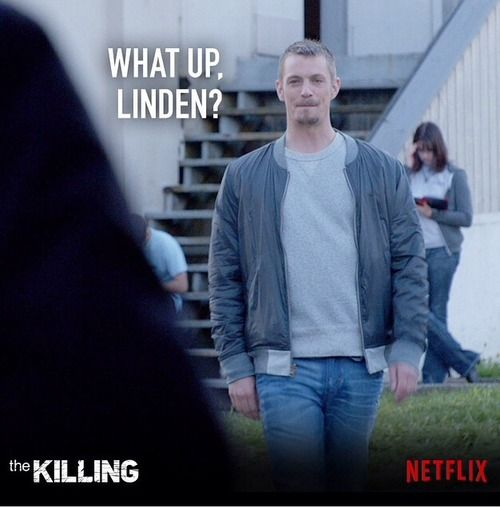 Just Joel Kinnaman... Linden was a lucky bitch!