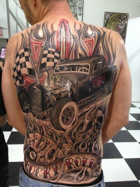 bildresultat f r rockabilly car tattoo tatueringar. Black Bedroom Furniture Sets. Home Design Ideas