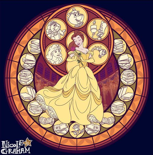 This makes a unique alternative to the Kingdom Hearts stained glass platform from the 1st game. However, I like that one that KH used because it features both Belle and the Beast.