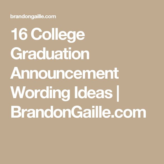Best 25+ Graduation announcements wording ideas on Pinterest ...