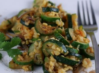 ... the great-sounding recipes!! Zucchini with Lentils and Roasted Garlic