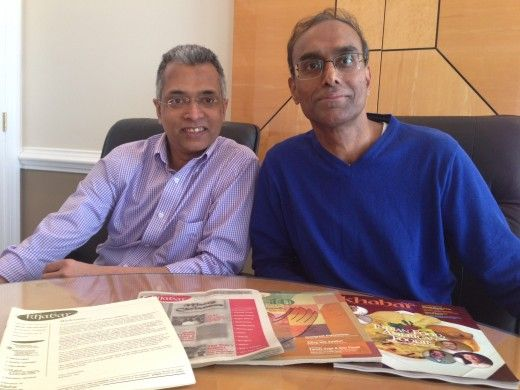 "Behind the Scenes: editor-in-chief Parthiv Parekh and managing editor Murali Kamma of the monthly magazine ""Khabar"" created this Atlanta-based publication to examine hot button issues and cater toward an Indian American readership."