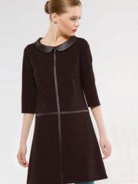 платье с кожаными вставками1