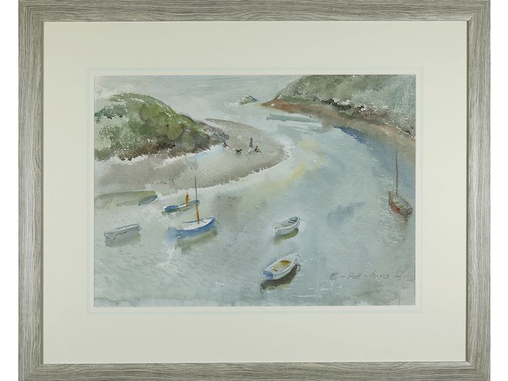 'Quiet Haven, Devon' by Elizabeth Scott-Moore (1902 - 1993). Original watercolour by acclaimed artist.