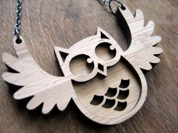 Flappy Owl Pendant by tigerandhare on Etsy, $26.00