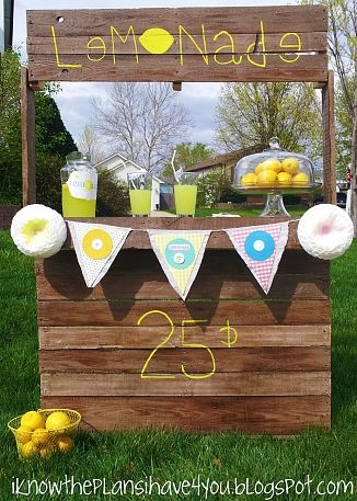 17 best images about pallets n things on pinterest for Pallet lemonade stand plans