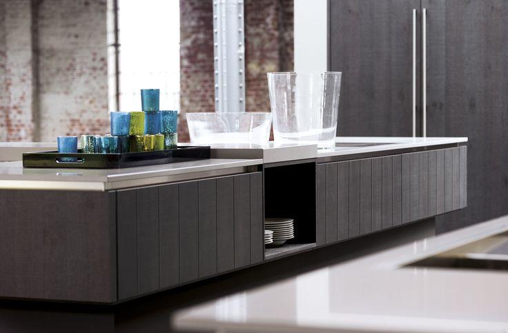 6021 GL   Silbereiche Furnier - Häcker Küchen - Häcker Küchen