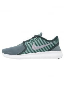Nike Performance - FREE RUN COMMUTER - Trainers - hasta/seaweed/green glow/offwhite
