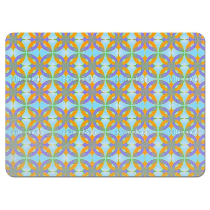Uneekee Dschingis Khan Placemats (Set of 4) (Dschingis Khan Placemat), Multi (Polyester, Floral)