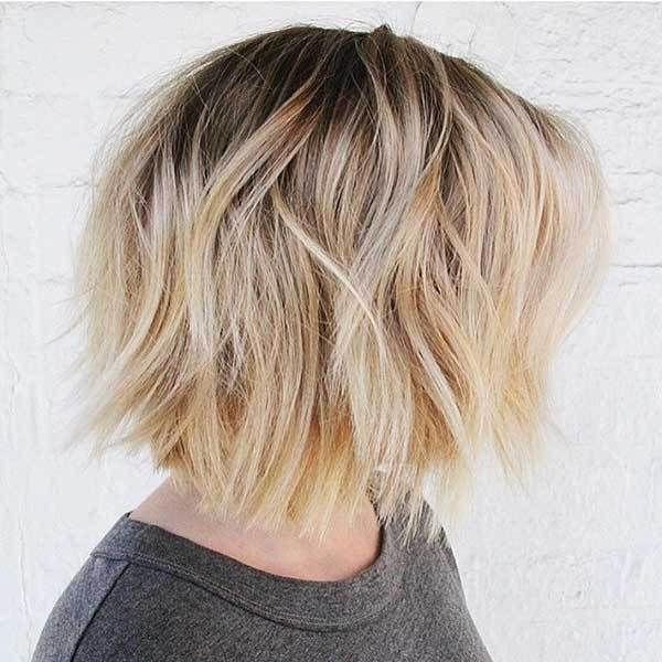 14 More Sexy Super Short Hairstyles: #1. Blonde Bob with Dark Roots
