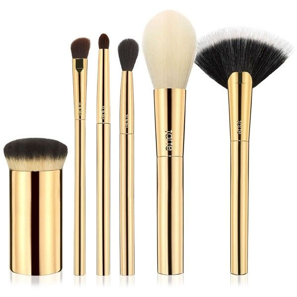 tarte Limited Edition 6-Pc. Brush Set by Nicol Concilio ($39) ❤ liked on Polyvore featuring beauty products, makeup, makeup tools, makeup brushes, no color, set of makeup brushes, set of brushes, tarte and tarte makeup brushes