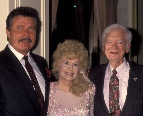 LR Max Baer Jr Donna Douglas and Buddy Ebsen attend the party for Buddy Ebsen on March 20 1992 at the Beverly Wilshire Hotel in Beverly Hills...