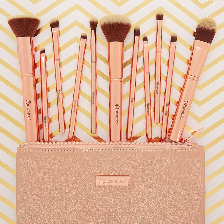 Our gorgeous Metal Rose - 11 Piece Brush Set w/ Cosmetic Bag is now available at bhc.com for just $20!