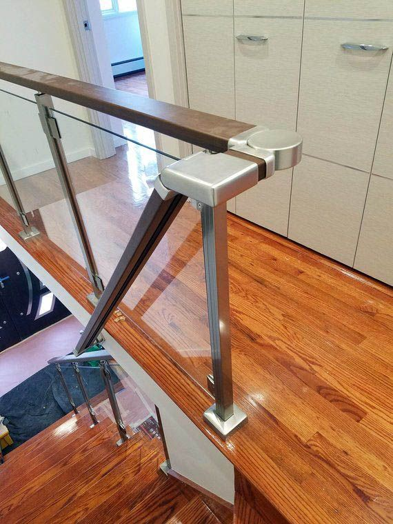 Your Guide To Glass Railing Home Hardware For Your Home Staircase Railings Glass Stairs Design Glass Staircase