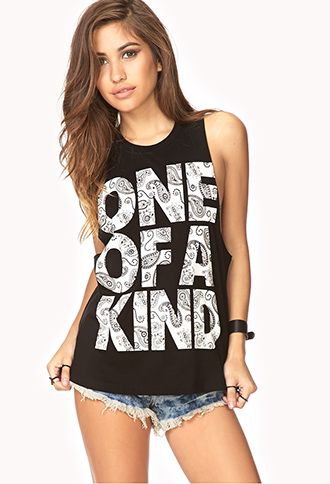 Haha, G-Dragon Shirt!!  Statement-Making Muscle Tee | FOREVER21 - 2000140287 #kpop #gdragon #bigbang