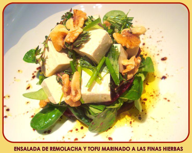 Ensalada de Remolacha y Tofu Marinado a las Finas Hierbas