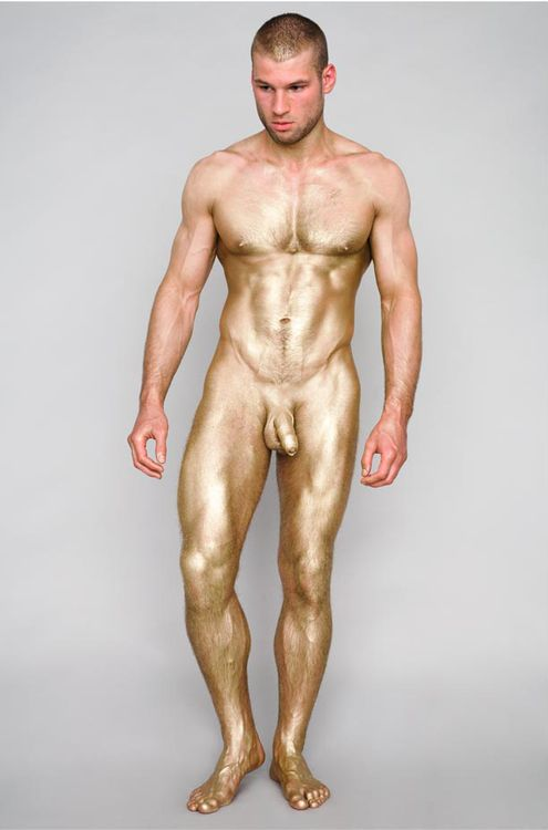 Nude guy body paint — photo 3