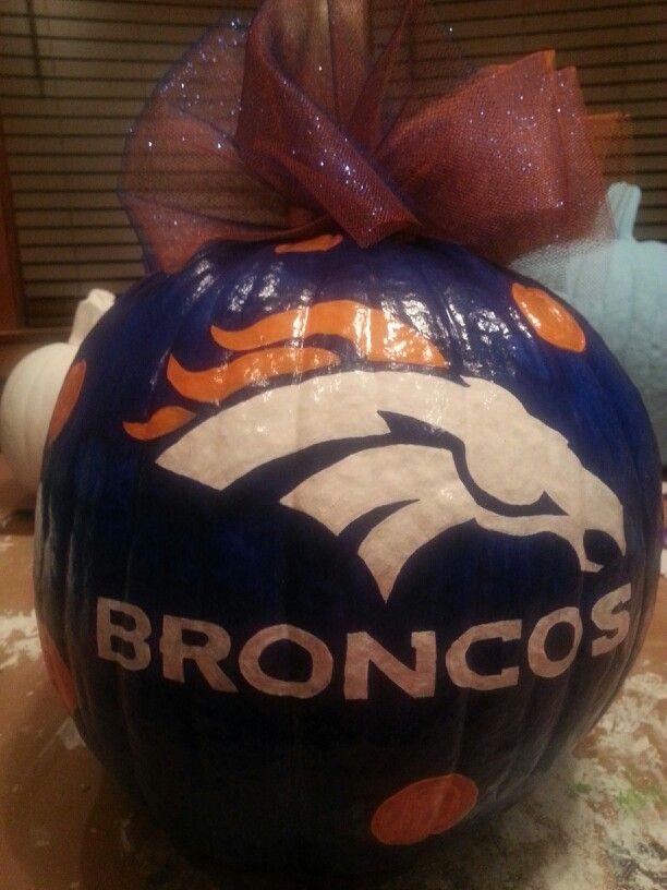 Denver broncos pumpkin pinterest