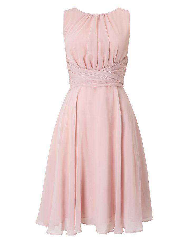 Phase Eight Marti Chiffon Dress Pink
