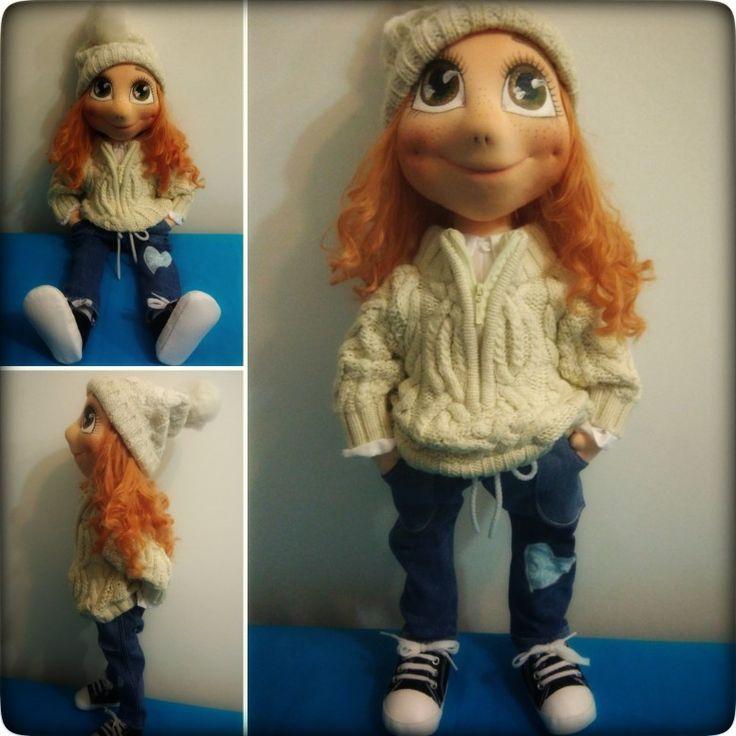 My new handmade doll Meruňka Meruňková ❤️