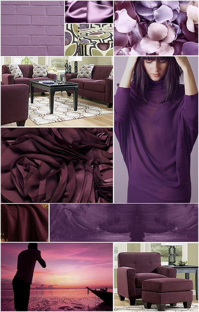 purple color collage by ashley furniture homestore