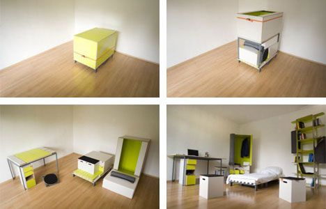 (Check out our complete collection of Unusual, Creative and Transforming Furniture.) Why is transforming furniture so alluring