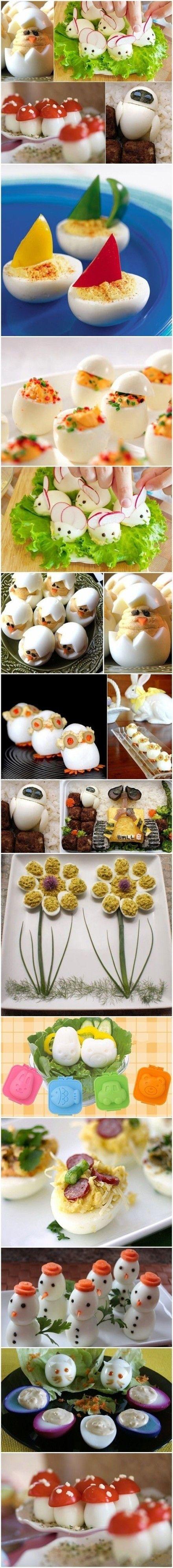 Eve hardboiled egg. MrB LOVES anything Wall-E