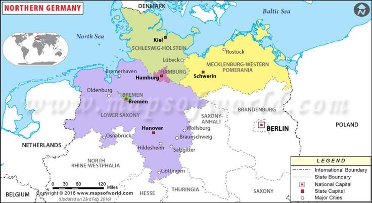 northern germany map german norddeutschland map showing the international and state boundary national capital state capital and major cities in the