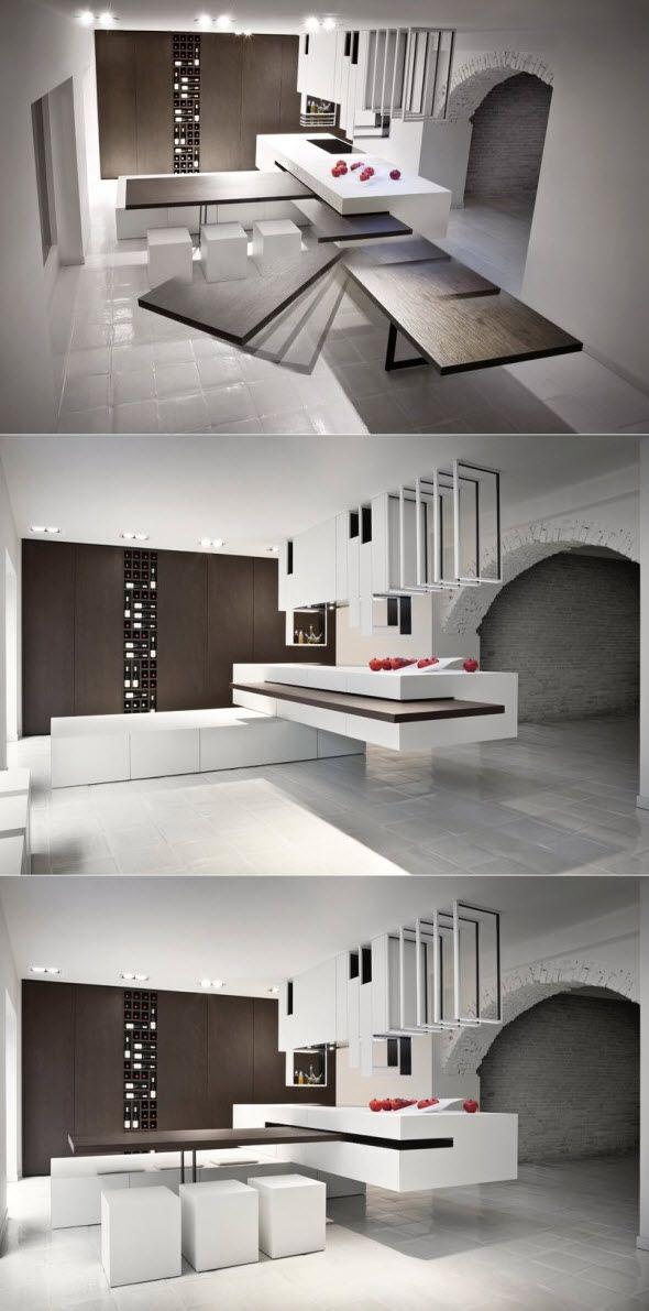 Muebles de cocina ampliables